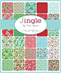 "Moda JINGLE Layer Cake 10"" Precut Fabric Quilting Squares Assortment Kate Spain 27210LC"