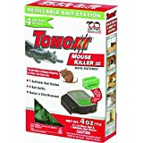 Tomcat Mouse Killer III (Kid Resistant Refillable Mouse Bait Station, Box w/ 4 Bait Blocks) - Not Sold in AK