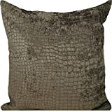 "Fabric Resource Wally Chocolate 18x18"" Decorative Throw Pillow"