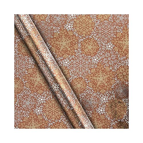 waitrose-metalic-bronze-snowflake-gift-wrap-4x05m-pack-of-2