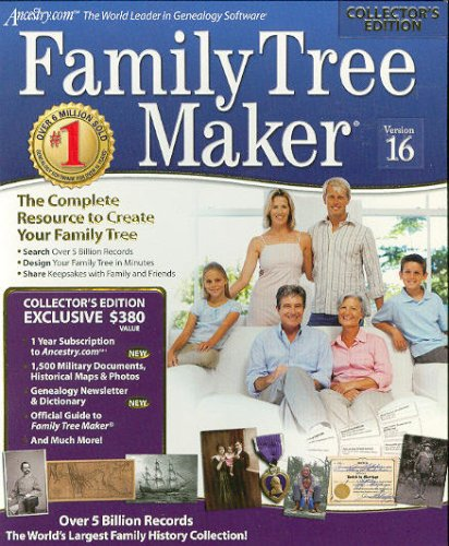 Encore Software Family Tree Maker 16 Collector'S Edition By Encore- Windows front-642459