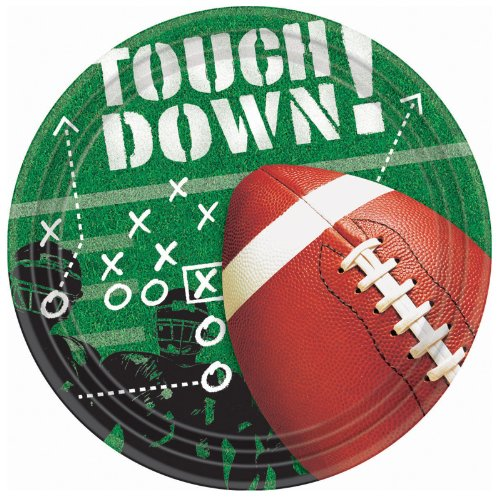 Cheapest Price! Football Frenzy Dinner Plates Party Accessory 50 piece