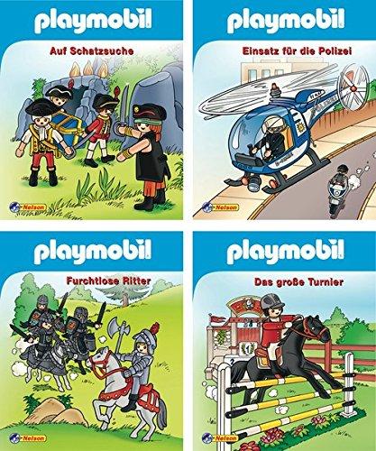 Nelson Mini-Bücher: 4er Playmobil 1-4