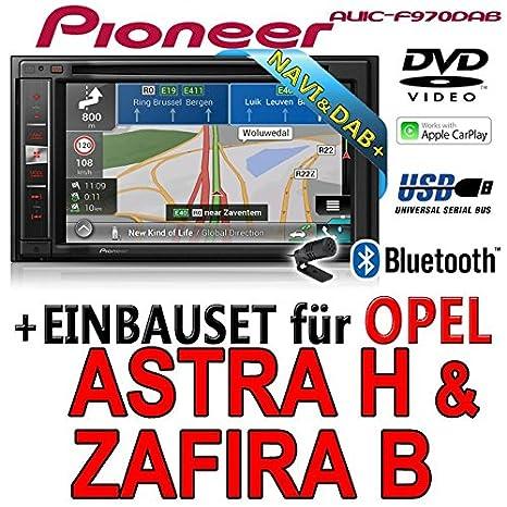 Opel astra h, zafira b-pioneer aVIC-f970DAB-multimedia 2DIN navigation dAB autoradio avec antenne de montage