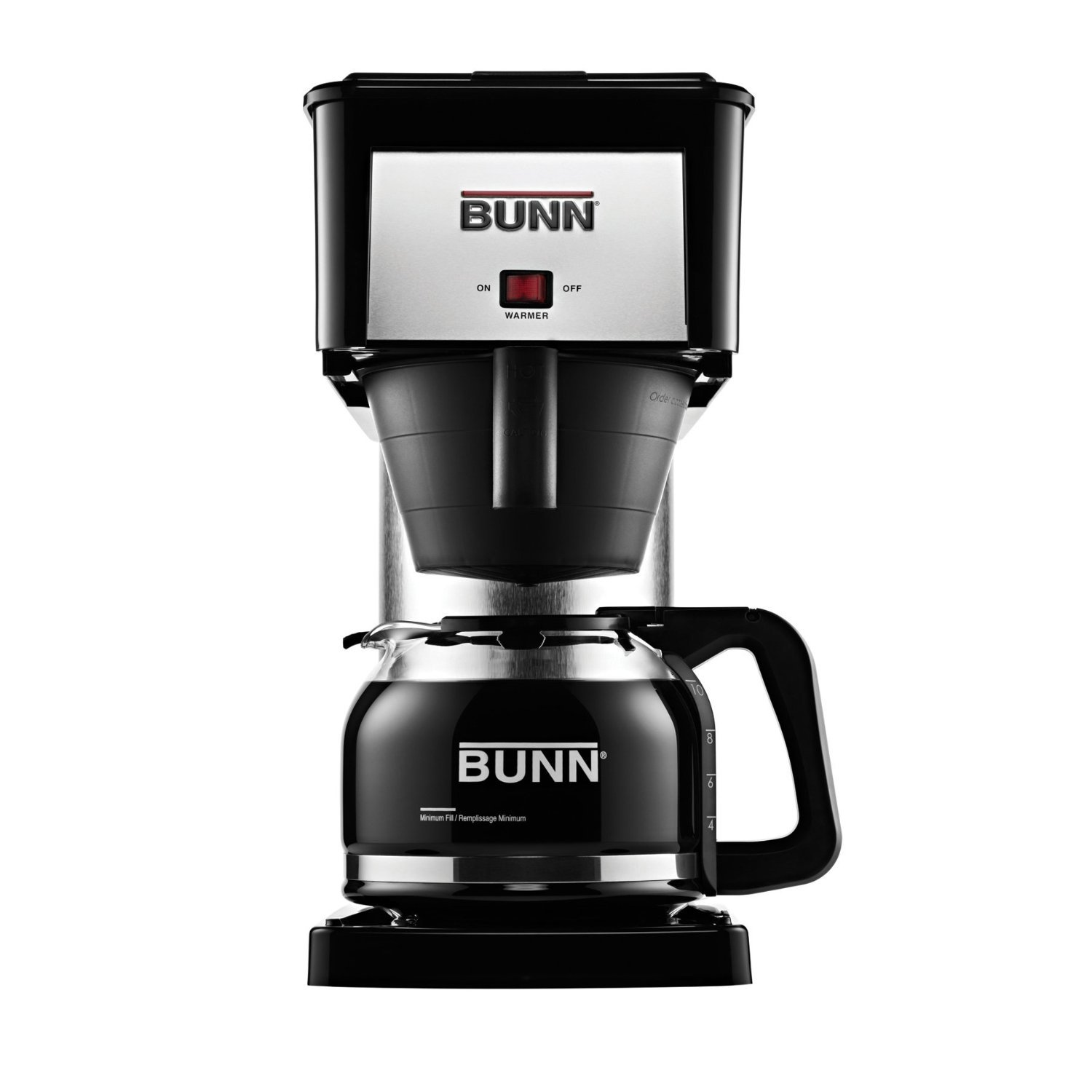 BUNN BXB Velocity Brew 10-Cup Professional Home Coffee Brewer Maker, Black (Certified Refurbished)