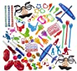 Party Favor Toy Assortment Pack of 100 Pc, Includes a Wide Range of Mid-size and Small Toys, Small Prizes, for Party Favor Bags, School Classrooms, and Carnivals, (Exclusively Sold By: Smart Novelty) by Smart Novelty