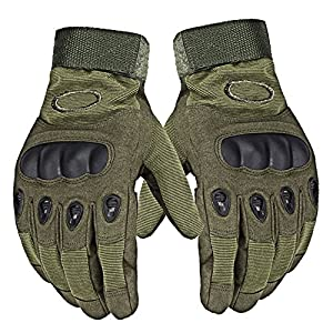 DUYI Mens Military Gear Tactical Gloves, Hard Knuckle Full Finger, 1 Pair by DUYI