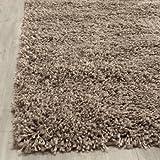 Safavieh California Shag Collection SG151-2424 Taupe Area Rug, 8 feet by 10 feet (8' x 10')