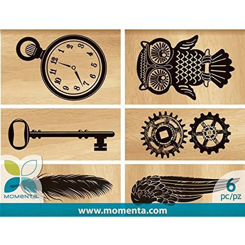Momenta 22189 6-Piece Mounted Stamp Set, Vintage Gear (Vintage Pieces compare prices)