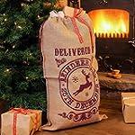 Hessian / Jute 'Delivered by Reindeer...