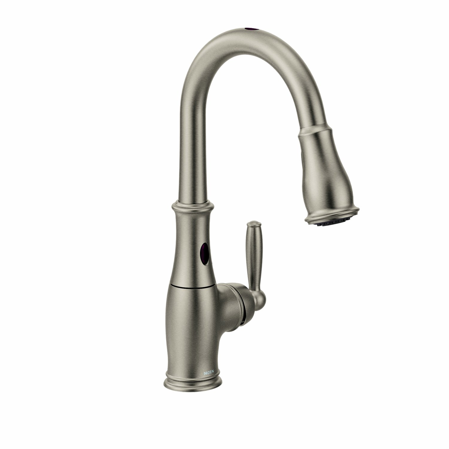 Moen 7185E Brantford With MotionSense One Handle High Arc Pulldown Kitchen  Faucet Featuring Reflex