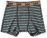 (リー)Lee デニム調 ボーダープリント ボクサーブリーフ 前開き 905 81820 49 クロ L