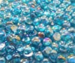 Creative Stuff Glass - 2 Lb - Mini Light Blue Irid. Glass Gems - Vase Fillers (12-15mm, Approx. 1/2\