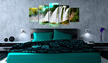 grand format impression sur sur toile images 5 5 parties nature tableau 030212. Black Bedroom Furniture Sets. Home Design Ideas