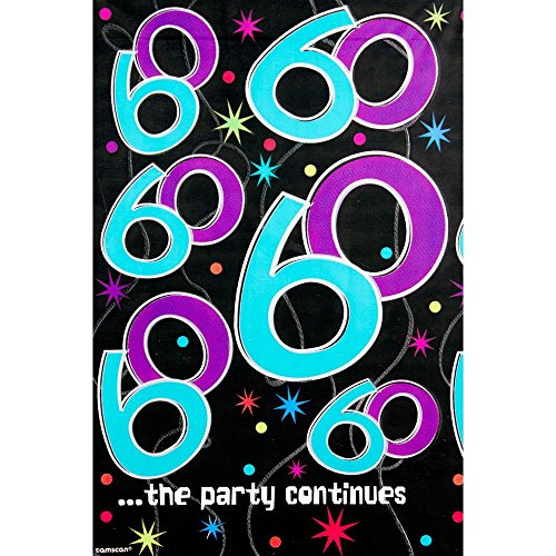 The Party Continues 60th Birthday Plastic Table Cover - 1