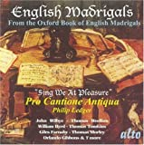 English Madrigals From The Oxford Book Of English Madrigals