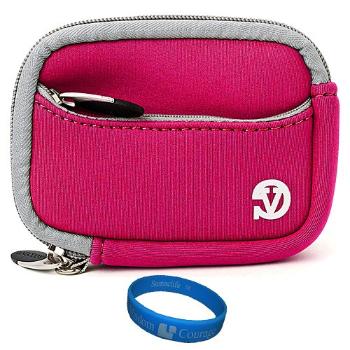 Magenta VG Neoprene Sleeve Protective Camera Pouch Carrying Case for Samsung ST66 ST93 ST95 ST90 ST65 ST30 ST700 ST80 ST100 ST550 SL202 SL30 SL102 DV300F MV800 PL150 PL170 PL120 PL200 PL210 PL100 SH100 WB210 WB700 WB2000 AQ100 WP10 TL350 TL210 TL205 TL240