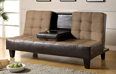 "SOFA BED,TAN/BROWN 69-1/4""x36-1/4""x35-1/2""H"