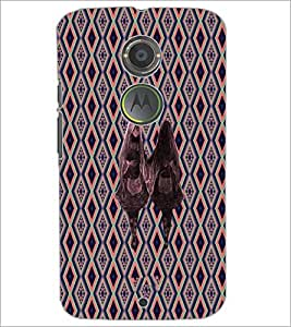 PrintDhaba Mirror Girl D-5734 Back Case Cover for MOTOROLA MOTO X2 (Multi-Coloured)