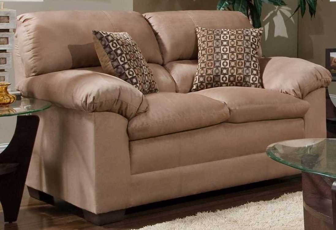 XPRESS Simmons Upholstery Lakewood Loveseat 3685- Cappuccino