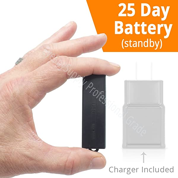 Small Mini Voice Activated Audio Recorder Super Long 288 Hour Storage Capacity (8GB) | 25 Day Stby Battery Date & Time Stamp | Easy to Use | Crystal Clear Digital Recording (Color: Black)