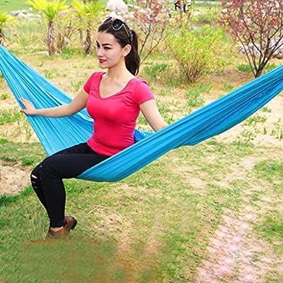 Einzel-Doppel-Fallschirmtuchhängematte Outdoor-Camping-Indoor-Freizeit Schaukel Nylon Knoten Upgrade Abschnitt von Flying little witch Hammock auf Gartenmöbel von Du und Dein Garten