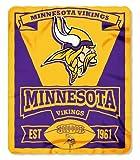 NFL Minnesota Vikings Marque Printed Fleece Throw, 50-inch by 60-inch