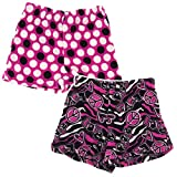Fancy Girlz Peace Polka Dot Two Plush Pajama Shorts for Big Girls'