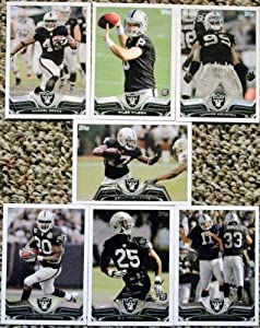 2013 Topps Football Oakland Raiders Team Set In a Protective Case - 7 cards including McFadden, Reece, Moore, Tyler Wilson RC, Lamarr Houston RC, D.J. Hayden RC, and a Team Leader Card.