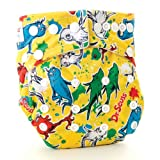 Bumkins Stuff-It Cloth Diaper, Yellow Fish