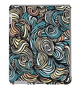 Fuson 3D Printed Pattern Designer Back Case Cover for Apple iPad 6 - D990