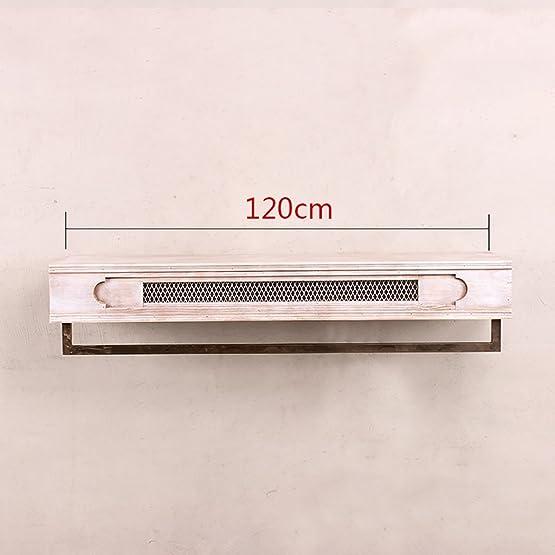 FGSGJ Appendiabiti a muro appendiabiti da parete per esposizione Espositori da parete in legno massello antico in ferro massiccio ( dimensioni : 120cm )