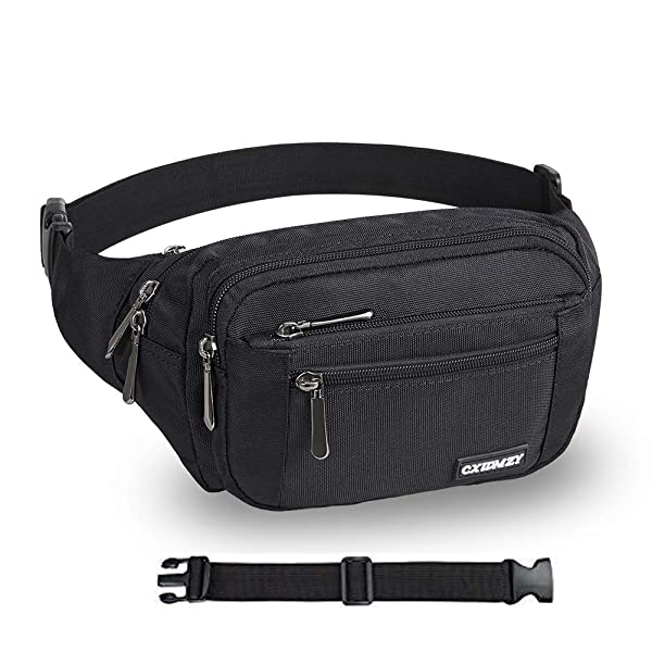 Cat Claw Scratching Black White Running Lumbar Pack For Travel Outdoor Sports Walking Travel Waist Pack,travel Pocket With Adjustable Belt