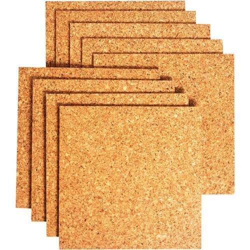 (PACK OF 8)**HIGH QUALITY**Bradforth Cork Tiles, Natural Frameless, 12x12in