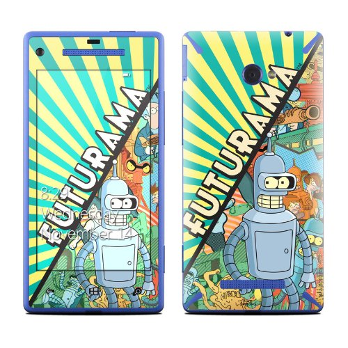 Bender Design Protective Decal Skin Sticker (High Gloss Coating) For Htc Windows 8X Cell Phone front-536044