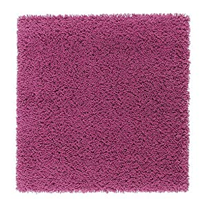 Ikea hampen rug bright cerise pink high pile for Ikea pink rug