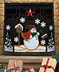 Holiday Snowman Fireplace Screens by GetSet2Save