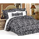 7pcs Full Zebra Animal Kingdom Bedding Comforter Set