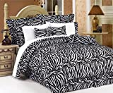 610jZhVHyhL. SL160  5Pcs Twin Zebra Animal Kingdom Bedding Comforter Set