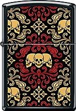 ZIPPO Black Matte Skulls Ornament Windproof Lighter