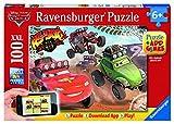 Ravensburger Spieleverlag 13662 - Cars in Aktion - 100 Teile XXL, QR Code für die Gratis-App von Ravensburger Spieleverlag