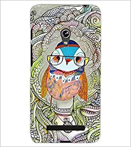 PrintDhaba Owl D-3853 Back Case Cover for ASUS ZENFONE 5 A501CG (Multi-Coloured)
