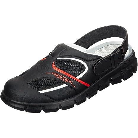Abeba 7342-48 Dynamic Chaussures sabot Taille 48 Noir/Rouge