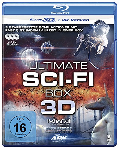 Ultimate Sci-Fi Box 3D: Boxset mit 3 SciFi-Hits: Battleforce, The Ark, Immortal [3D Blu-ray + 2D Version]