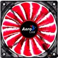Aerocool Shark 12cm Quad LED Fan 15 Blade Fluid Dynamic Bearing - Red