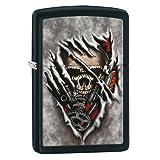 Zippo Skull Gears Pocket Lighter, Black Matte (Color: Black Matte Gears)