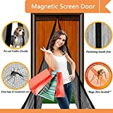 Magnetic Screen Door,NB-Magic(TM) Mesh Curtain Fits Doors Up To 34