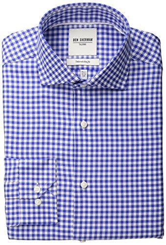 ben-sherman-mens-royal-and-white-twill-gingham-royal-blue-145x32-33