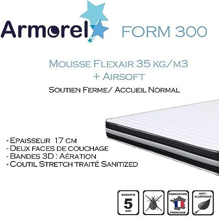 Armorel MAF300150/220 Form 300 Matelas Mousse Blanc 220 x 150 cm