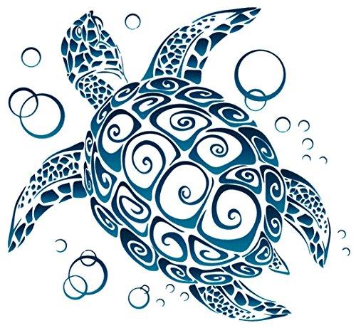 Sea Turtle Tribal Window Sticker Decal (5